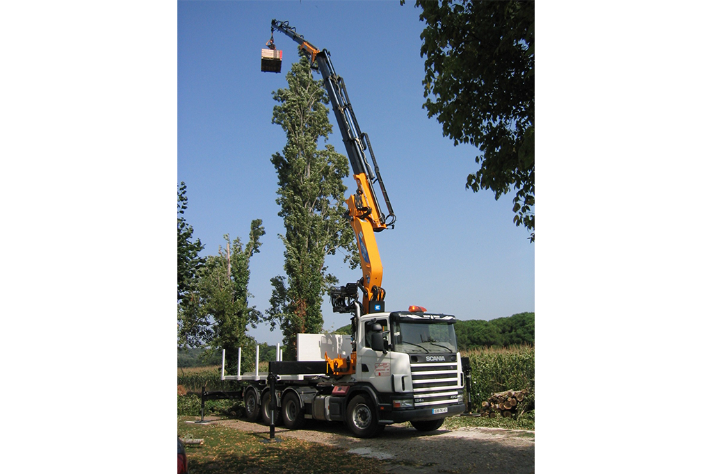 grue auxiliaire camion effer appydro