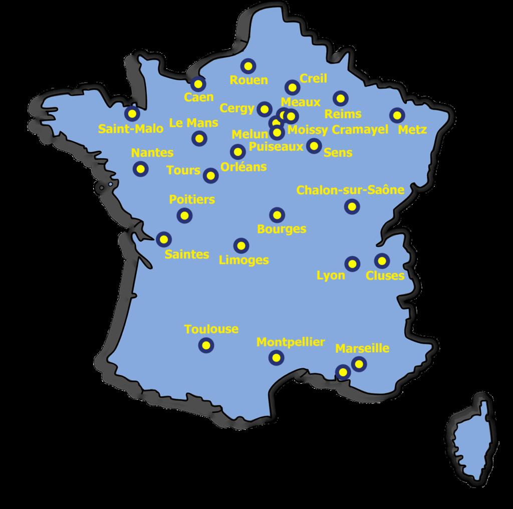 Carte Réseau Français de l'Hydraulique